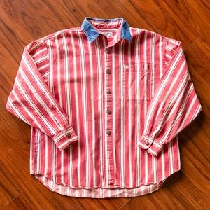Vintage 90s GUESS Striped Button Up Shirt
